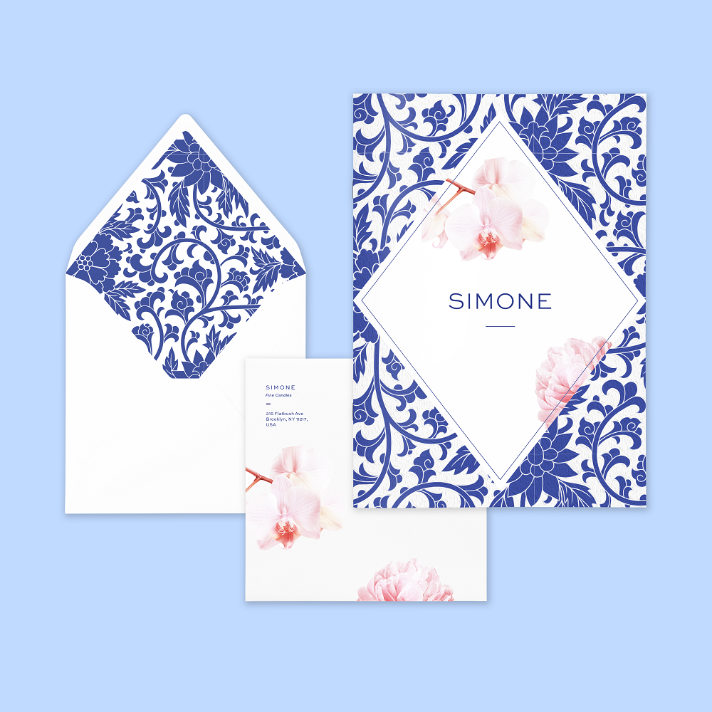 Castlefield Design – Simone Candle Packaging Stationery